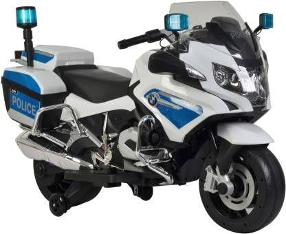 Motocicleta electrica Kinderauto POLICE BMW R1200 CU ROTI MOI #Alb