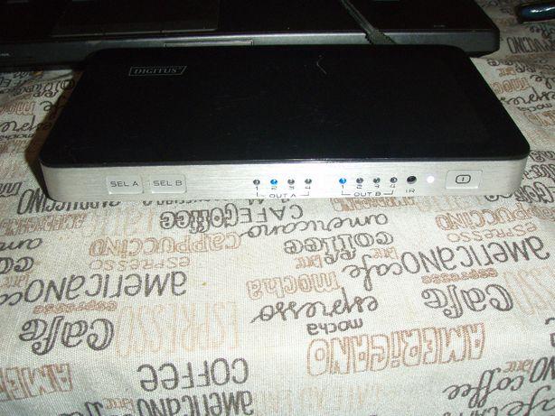 Swich HDMI 4 intrari cu 2 iesiri Digitus DS-48300