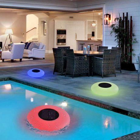 Многоцветна Соларна лампа за басейн и декорация на градина