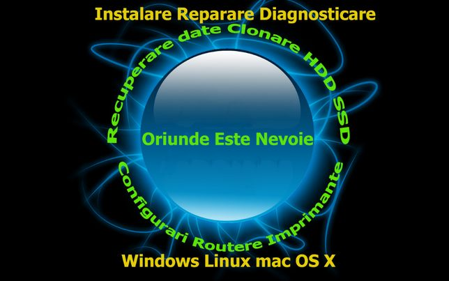 Instalare Reparare Windows XP 7 8 10 macOS X Linux Recuperare Date etc