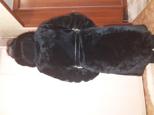 Шуба мутон, не потертая, размер 42-44