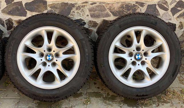 Jante aliaj 5x120mm, originale BMW X3, anvelope 235/55 R17, E46, E90!