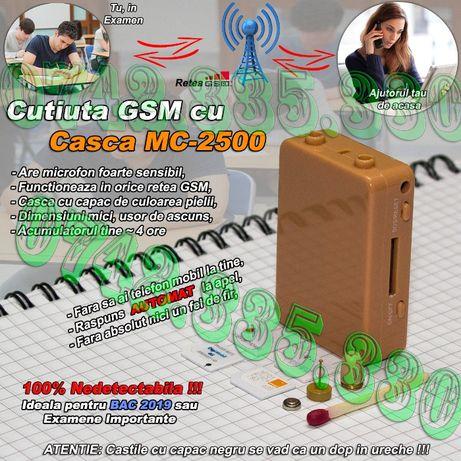 Cutiuta GSM + Casca MC-2500! Casti de copiat Fara fire Casca de Copiat