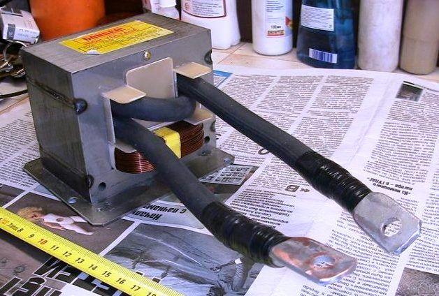трансформатор микроволновки для контактной сварки лестница Иакова и пр