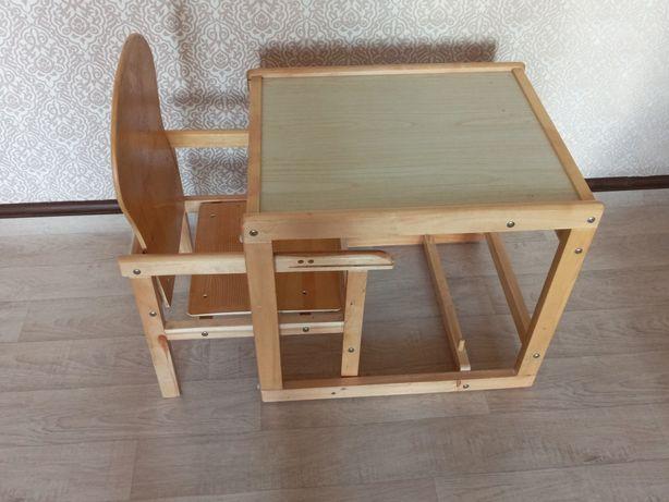 Столик для кормления 2в1 трансформер