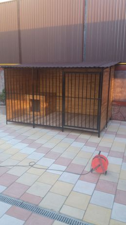 Вольер для собак. 2,5×2 +будка утеплённые