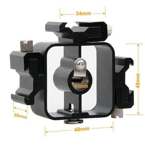 Vand triplu adaptor metalic pentru patina blit/blitz
