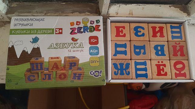 Кубики из дерева 3 +