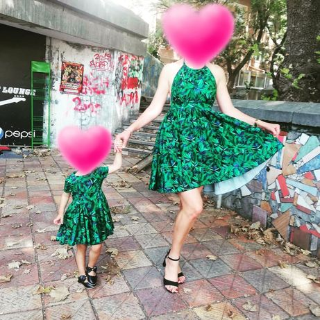 Еднакви рокли мама и дете