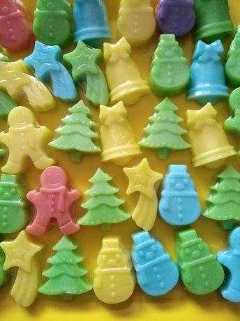 Коледни глицеринови сапунчета