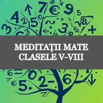 Ofer meditatii la Matematica pentru clasele 5-8 50RON