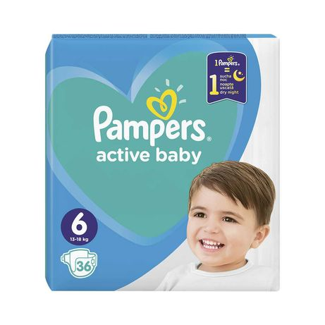 Scutece Pampers Active Baby junior+ Nr 6 (13-18 kg) 56 buc