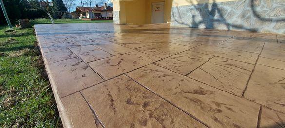 изработка на всички видове цокли от щампован бетон