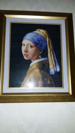 "Goblen diagrama ""Fata cu cercel de perla"""