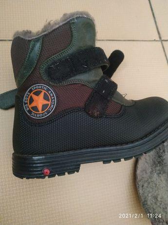 Зимние мембрана натуральные ботинки