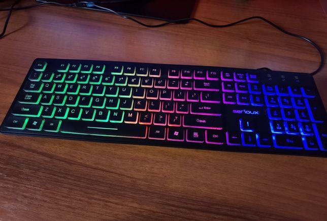 Tastatură Gaming iluminată Serioux Rainbow nouă