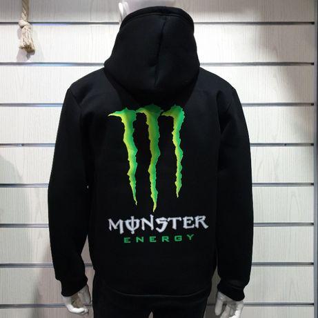 Нов мъжки суичър с цип и дигитален печат на Монстър, Monster