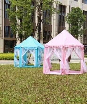 Детска палатка Замък с завеси