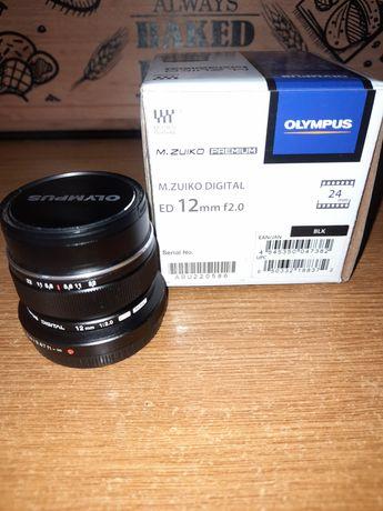 Obiectiv Olympus Zuiko 12mm f2.0ed msc