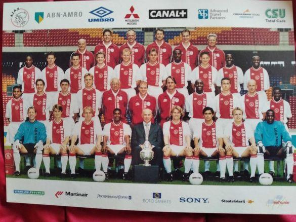 """Колекционерска картичка на A.F.C.""""AJAX"""" AMSTERDAM-сезон 1999-2000г."""