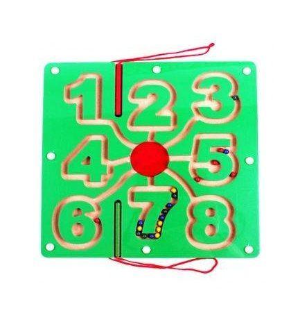 Labirint magnetic Trasare cifre Jucarii Montessori