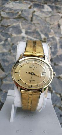 Ceas Certina Calendar - Placat cu aur - Quartz - 29 mm-Dama