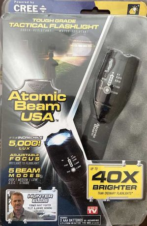 тактический водонепроницаемый фонарь Atomic Beam светодиод Cree T6
