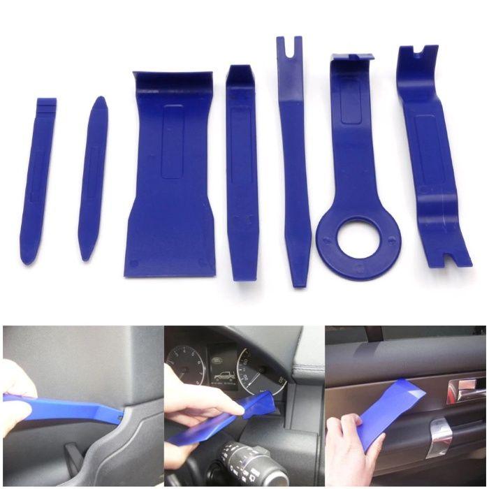 Set 7 spatule plastic demontare trim bord fete de usi Resita - imagine 1