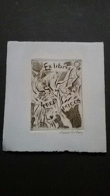 Ex libris-Gravura de Fred Micos
