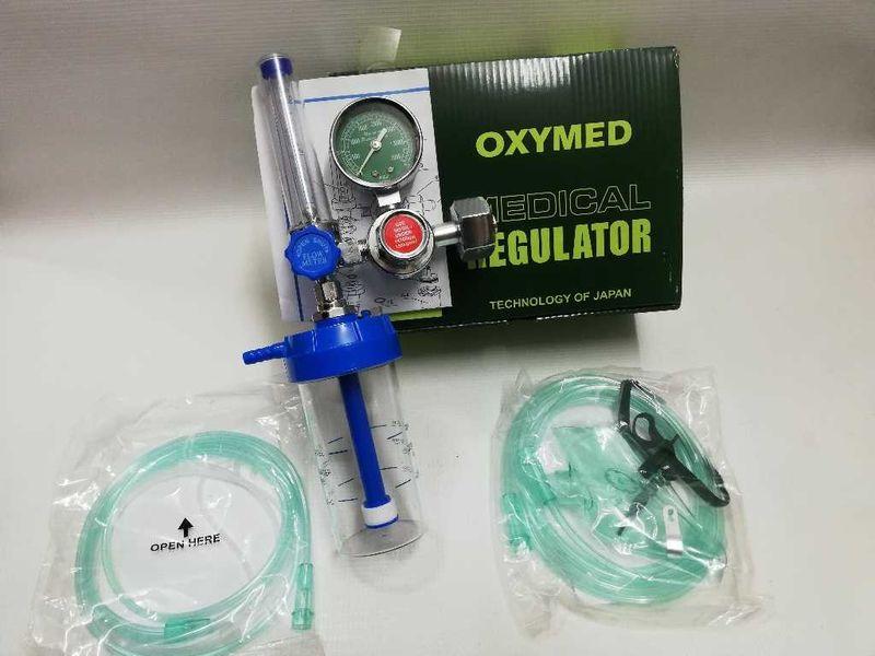 Кислороден медицински редуцир-вентил с маска и накрайник за ноздри.Нов гр. Пазарджик - image 1