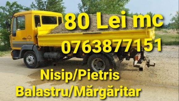 7-8= 550 lei transport vând nisip balastru balast pietriș marfa moloz