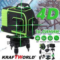 4D ЛАЗЕРЕН НИВЕЛИР с 16 линии, четири точков със зелен лазер