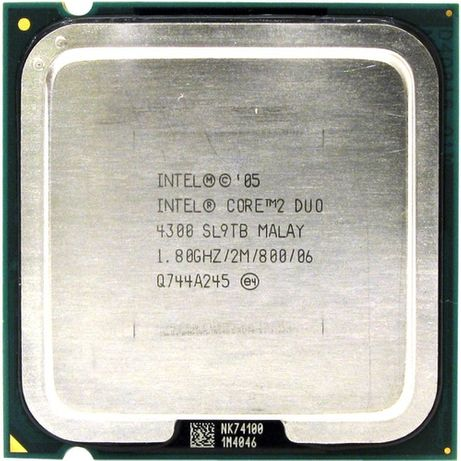 Intel Core 2 Duo E4300, 1.80GHz, ядер: 2/2T, LGA775, oem, б/у.