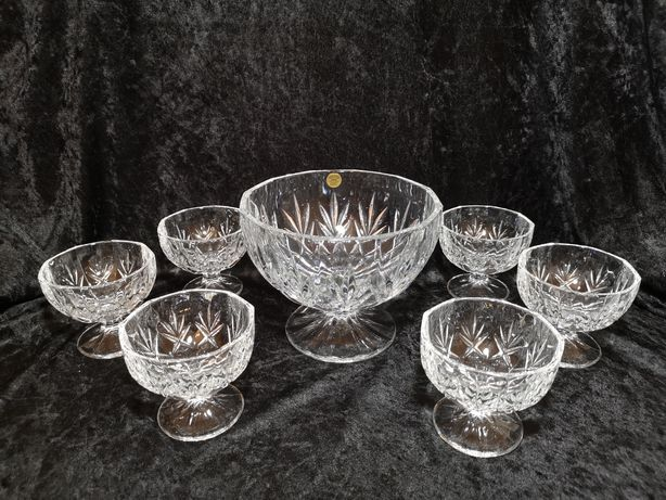 Set Gala cupe de Cristal 24% plumb RCR Cristaleria Italiana