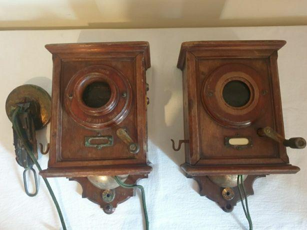 Telefoane de epoca Siemens, fabricate în Germania anilor 1895.