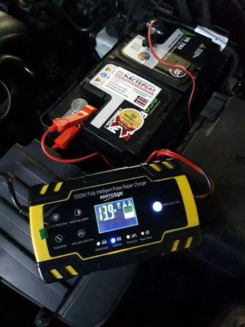 Зарядное для аккумуляторов 12/24v с жк экраном