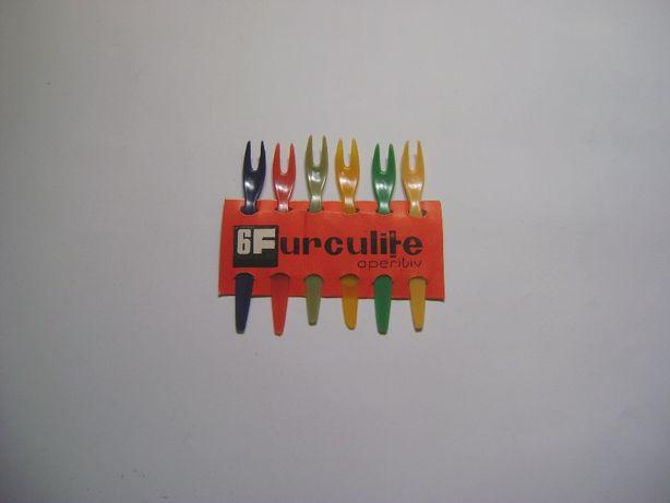 Set 6 furculiţe plastic vintage
