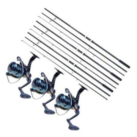 Set 3 Lansete, Baracuda, Master Carp, 3.90 metri, din 3 tronsoane, ech