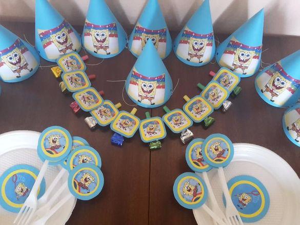 Украса за детски рожден ден Спондж Боб, Замръзналото кралство и други