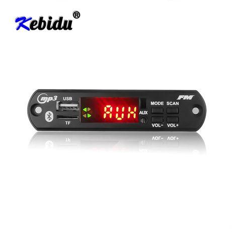 Mp3 player 5-12V KEBIDU модул за вграждане Bluetooth 5.0 Tf/Fm/USB/AUX
