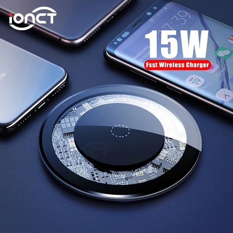 Wireless charger (max 15W) led + cablu micro usb