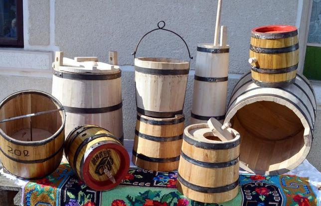 Putina din lemn pentru branza, varza, bors, otet, mied