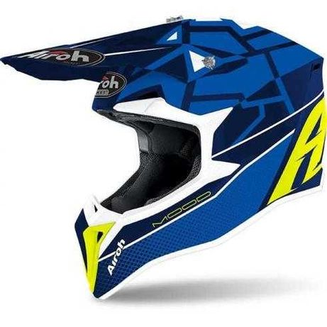 Детска мотокрос каска AIROH MOOD BLUE MATT