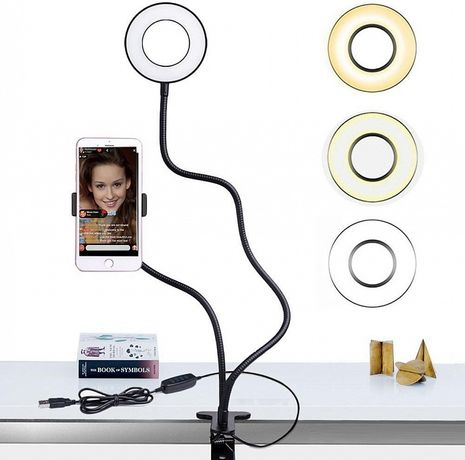 АКЦИЯ!!! Настольная кольцевая светодиодная LED лампа
