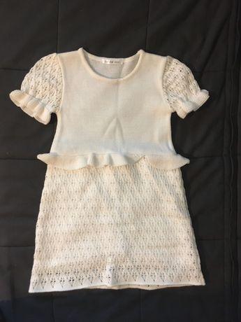 Rochie tricotata copii 5-6 ani