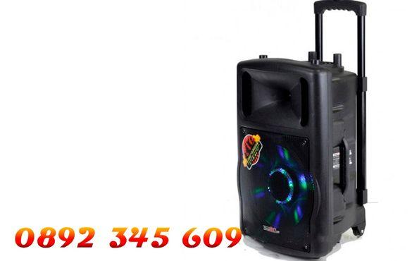 Mba Q12 Караоке тонколона с 2 безжични микрофона,радио,флашка,сд карта