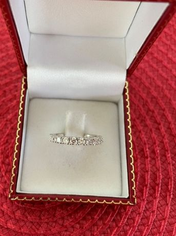 Inel platina cu diamante