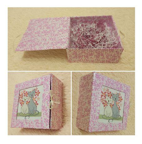 Оригинальная упаковка подарка с вышивкой (ручная работа)