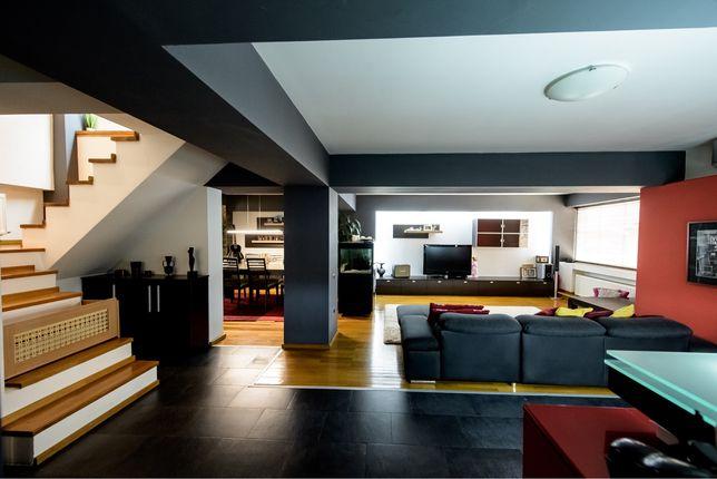 Penthouse deosebit pe 2 niveluri, terasa si garaj, complet mobilat si