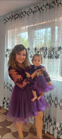 Vând rochie mama fiica M și fetița de la 6luni la 18luni.